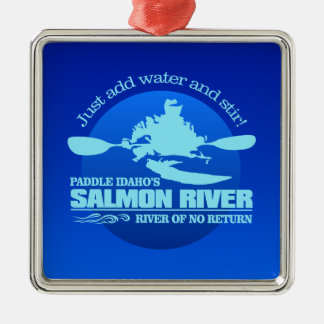 Salmon River (Blue) Christmas Ornament