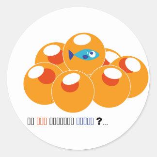 salmon roe classic round sticker