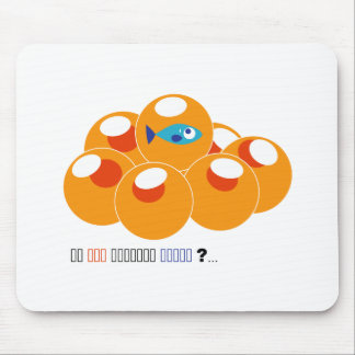 salmon roe mouse pad
