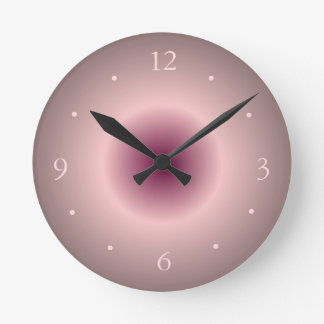 Salmon Rose and Luminous Pink/ Creative Wall Clock
