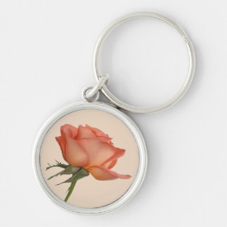 Salmon Rose  Customizable Keychain