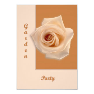 "Salmon Rose 5"" X 7"" Invitation Card"