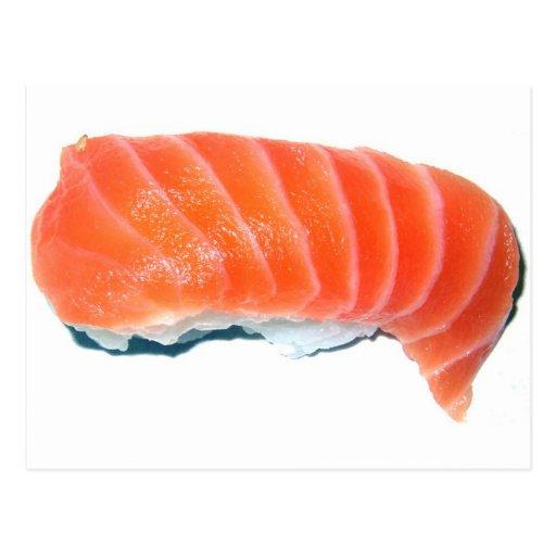 Salmon Sashimi Post Card
