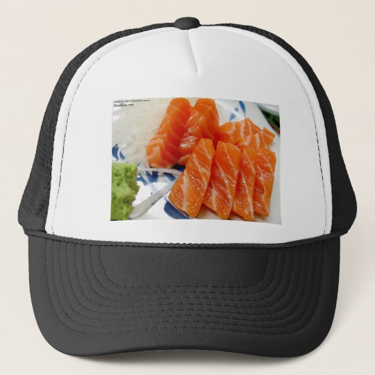 Salmon Sashimi Print Tees Cards Gifts Etc Trucker Hat