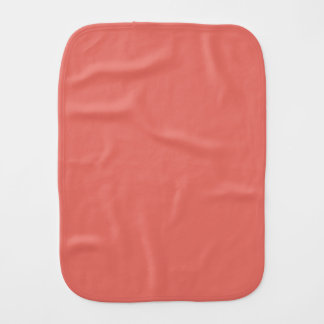 Salmon Solid Color Burp Cloth