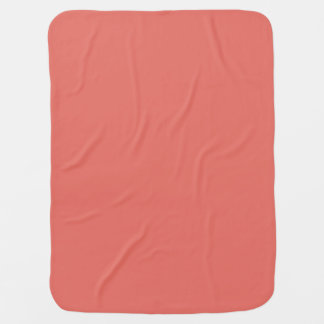 Salmon Solid Colour Baby Blanket