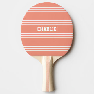 Salmon Stripes custom monogram paddle