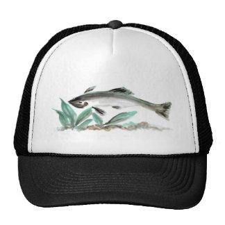 Salmon Sumi-e Hat