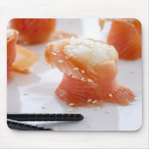 Salmon Sushi Mouspad Mousepad