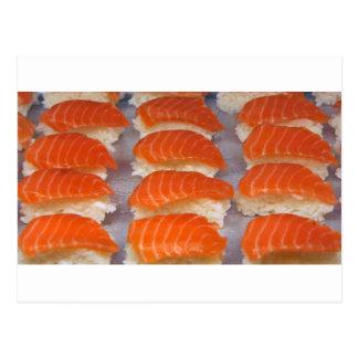 Salmon Sushi - Sashimi Postcard