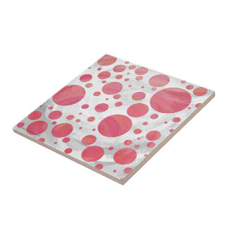 Salmon Swirl Dot Pattern Tile