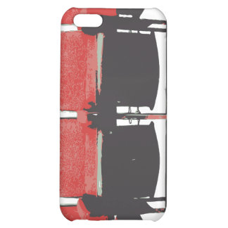 Salmon theatre seats cover for iPhone 5C