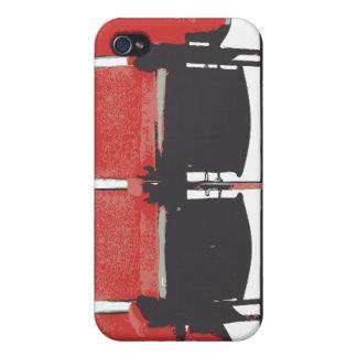 Salmon theatre seats iPhone 4/4S cover