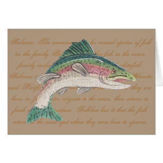 Salmon Trout Fishing Father's Day Card