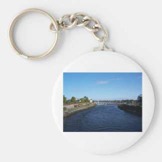 Salmon Weir Basic Round Button Key Ring