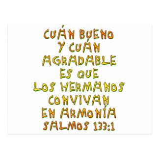 Salmos 133 1 postcard