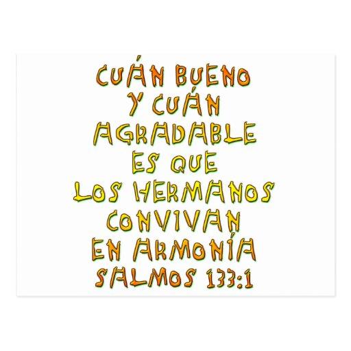 Salmos 133:1 postcard