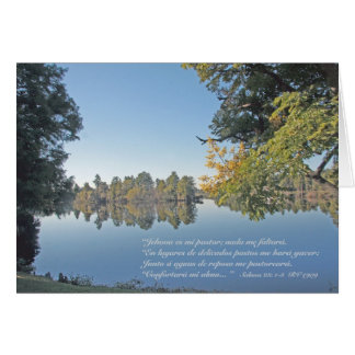 Salmos 23 1-3 Carta Greeting Cards