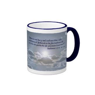 Salmos 27:1 con el Cielo Ringer Mug