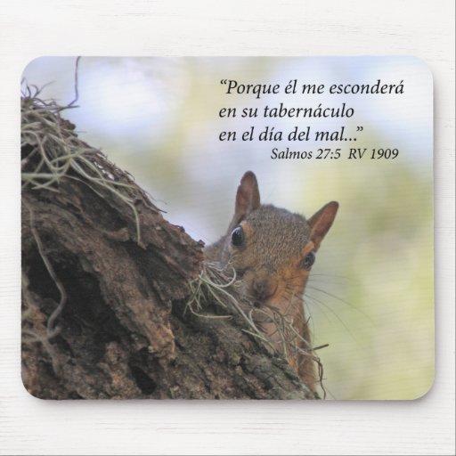 Salmos 27-5 con Ardilla Mousepads