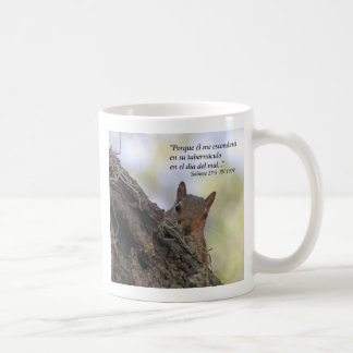 Salmos 27-5 con Ardilla  (Tazon) Coffee Mug