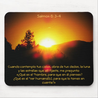 Salmos 8 : 3-4 mouse pad