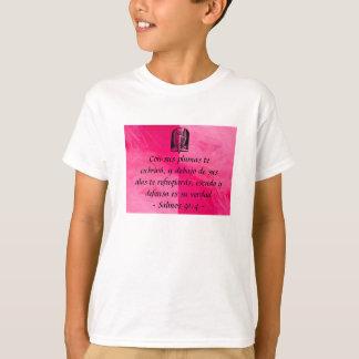 Salmos 91:4 kid's tshirt Spanish