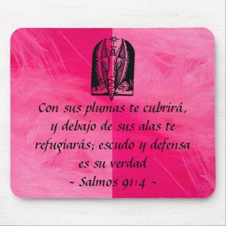 Salmos 91:4 mousepad Spanish