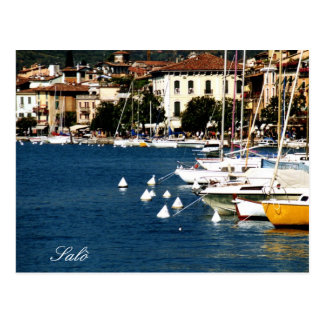 Salò Lake Garda Port and Bay photo Postcard