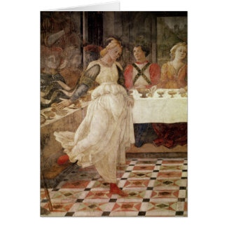 Salome dancing at the Feast of Herod Card