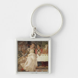 Salome dancing at the Feast of Herod Silver-Colored Square Key Ring