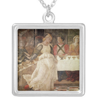 Salome dancing at the Feast of Herod Silver Plated Necklace