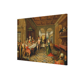 Salome Presenting the Head of St. John the Canvas Print
