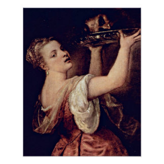 Salome with head of John the Baptist by Tiziano Ve Poster
