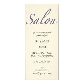 Salon 10 Cm X 24 Cm Invitation Card