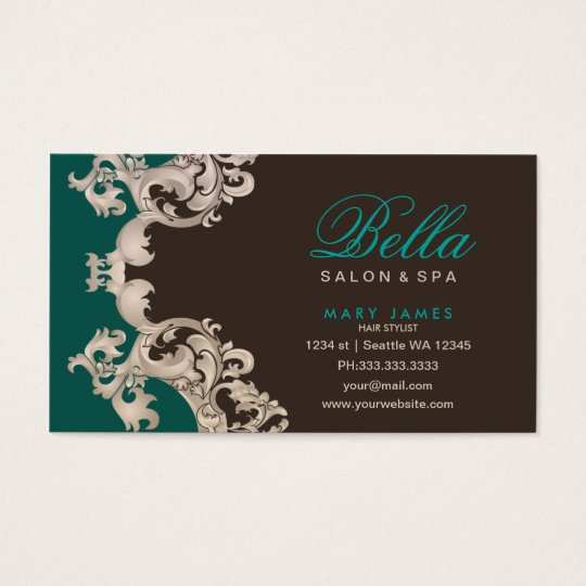 salon and spa business card appointment card