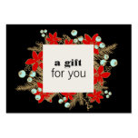 Salon and Spa Christmas Holiday Gift Certificate Pack Of Chubby Business Cards