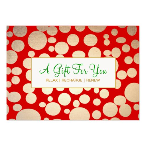 Salon and Spa Faux Gold Holiday Gift Certificate