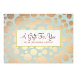 Salon and Spa Faux Gold Leaf Look Gift Certificate Business Card Template