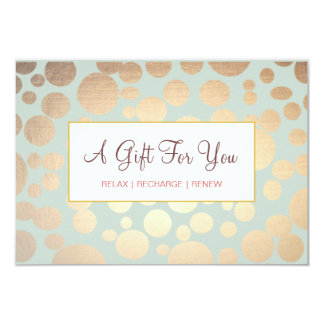 Salon and Spa Faux Gold Leaf Look Gift Certificate Card