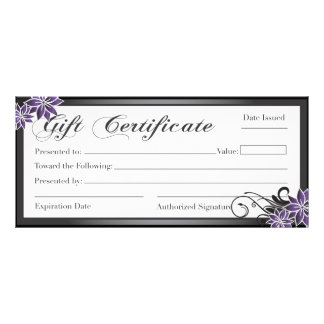 Salon and Spa Gift Certificate Full Colour Rack Card