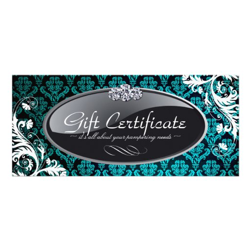 SALON AND SPA GIFT CERTIFICATE CUSTOMIZED RACK CARD