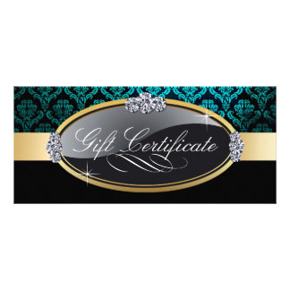SALON AND SPA GIFT CERTIFICATE CUSTOM RACK CARDS