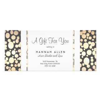 Salon and Spa Gold Circles Gift Certificate