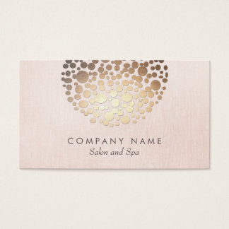 Salon and Spa Pink Linen Look Business Card
