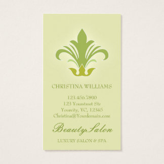 Salon appointment, beauty, spa business cards