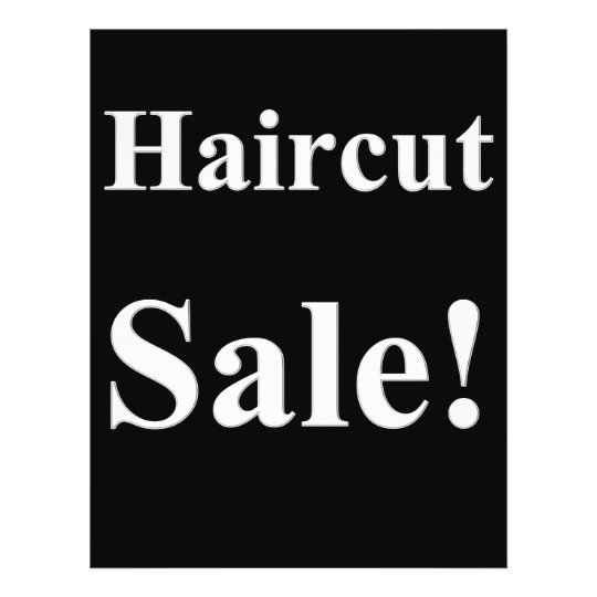 Salon Barber Haircut Sale Posters Promotional Flyer