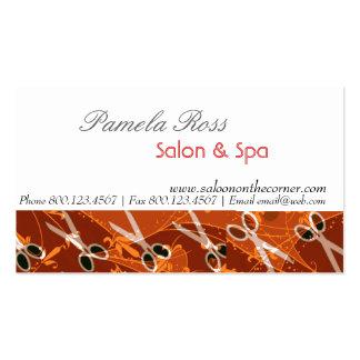 Salon  Bronze Charming Scissors Pack Of Standard Business Cards