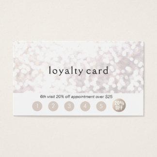 Salon Customer Loyalty 6 Punch Glitter Bokek Business Card