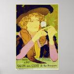 Salon Des Cent - Vintage Advertising Poster